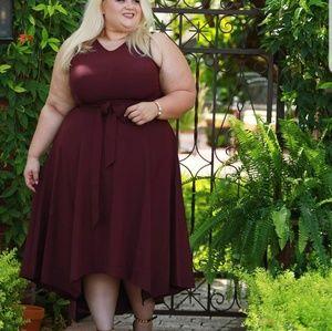 Dresses - Burgundy dress
